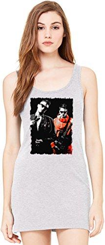 SDP Outfits Tunica Smanicata Bella Basic Sleeveless Tunic Tank Dress For Women| 100% Premium Cotton| Large