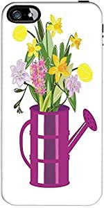 Snoogg abstract spring illustration with lots of flowers Hard Back Case Cover Shield ForForApple Iphone 5C / Iphone 5c