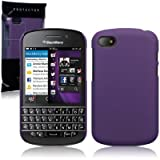 41BXPaCFyRL. SL160  Blackberry Q10 Hybrid Rubberised Back Cover Case (Solid Purple)