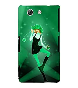 Green Chopper Girl 3D Hard Polycarbonate Designer Back Case Cover for Sony Xperia Z4 Mini :: Sony Xperia Z4 Compact