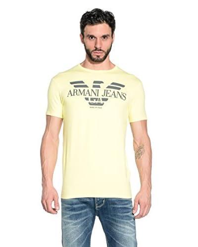 Armani Jeans Camiseda Manga Corta A6H06-Nm M9 Amarillo
