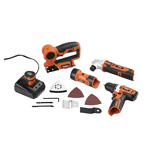 41BXVi6vYAL - BEST BUY #1 VonHaus 4 Piece 12V li-ion Power Tool Set Free 2 Year Warranty including 2-Speed Drill / Driver, Multi Purpose Saw, Multi Oscillating Tool, Flash Light / Torch. Complete with Carry Case and 1 hour charger.