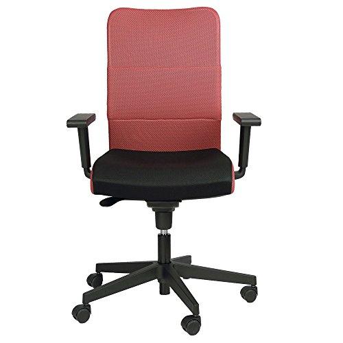 Brostuhl-Rollen-Stuhl-Rollstuhl-Armlehnen-Drehstuhl-Montana-Plus-Mafra-TS25-R19T-Rot-Schwarz