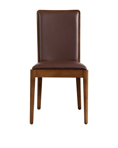 Urban Spaces Ifun Side Chair, Light Walnut