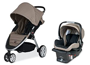 Britax 2014 B-Agile and B-Safe Travel System, Sandstone