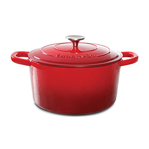 Crock-Pot Artisan Scarlet Cast Iron Dutch Oven, 5 quart, Red (Small Dutch Oven Pot compare prices)