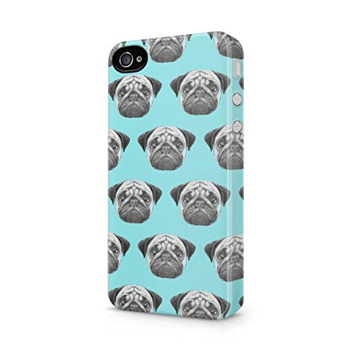 Pugs Pattern Print Apple iPhone 4 / iPhone 4s Snap-On Hard Plastic Protective Shell Case Cover