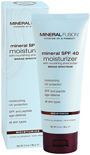 Mineral Fusion Natural Brands Mineral Spf 40 Moisturizer Net Wt. 3.4 Oz.