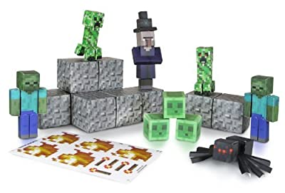 2 X Minecraft Papercraft Hostile Mobs Set, Over 30 Piece from Jazwares Domestic