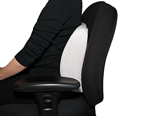Lumbar support pillow everrelief super comfy memory foam for Super comfy office chair