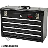 LARGE LIGHTWEIGHT 4 DRAWER TOOL CHEST WITH KEY LOCK AND US BALL BEARING SLIDES DRAWERS PORTABLE<