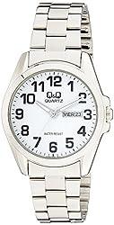 Q&Q Analog White Dial Mens Watches - A190-204Y