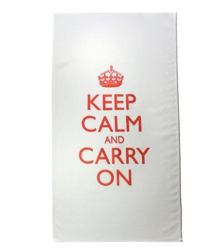 Keep Calm And Carry On Tea Towels Dish Towels Kitchen Towels Kitchen Decor White Pak 2