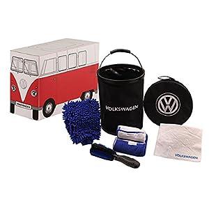 Genuine Volkswagen VW Car Wash Kit Mit Bucket Brush microfiber cloths chamois from Volkswagen