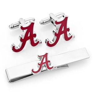 NCAA Cufflinks and Tie Bar Gift Set NCAA Team: Alabama Crimson Tide by Cufflinks Inc.