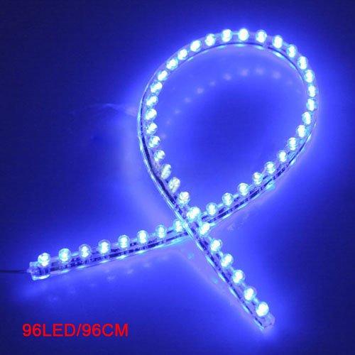 sonline-96-led-voiture-bande-sous-lumiere-neon-plancher-flexible-etanche-lineaire-bleu