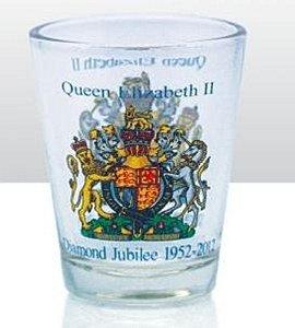 Souvenir SHOT GLASS Queens Diamond Jubilee 2012