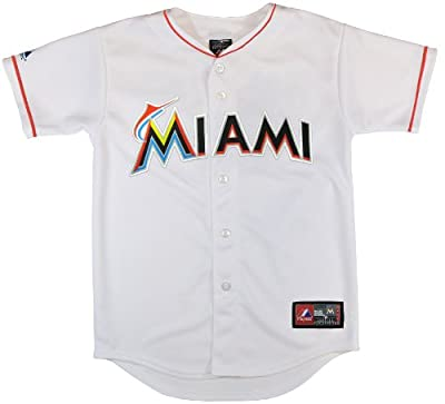 MLB Youth Miami Marlins Replica Jersey, White
