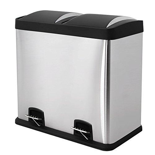 songmics recycle bin pedal bin 48 litre large waste. Black Bedroom Furniture Sets. Home Design Ideas