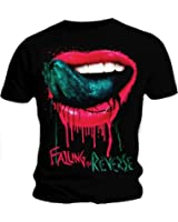 Official T Shirt FALLING IN REVERSE Pink/Green LIPS Mouth All Sizes
