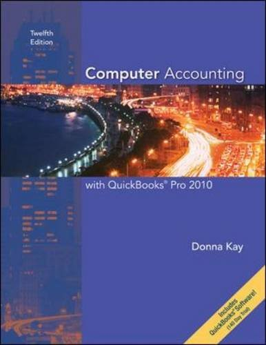 Computer Accounting With Quickbooks Pro 2010