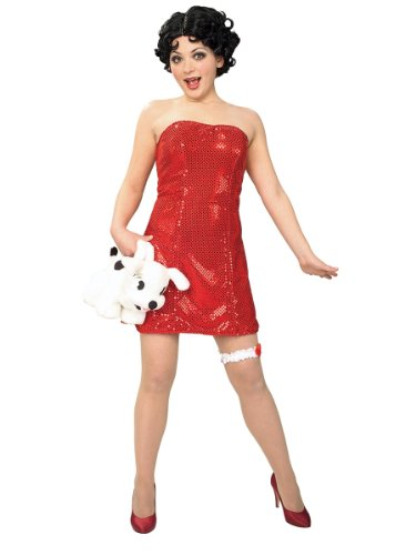 Teen Betty Boop & Wig Cartoon Character Pin Up Sexy Theatre Costumes