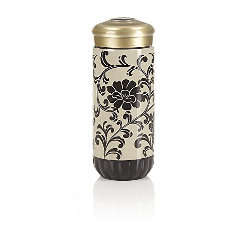 Teavana Floral Ceramic Tumbler