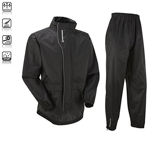 Tenn Unisex Active Cycling Jacket & Trouser Set - Black - Med/18 (Bicycle Rain Jacket compare prices)