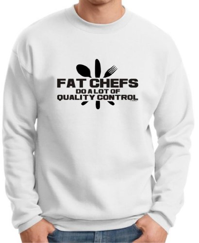 Fat Chefs Do A Lot Of Quality Control Premium Crewneck Sweatshirt 3Xl White