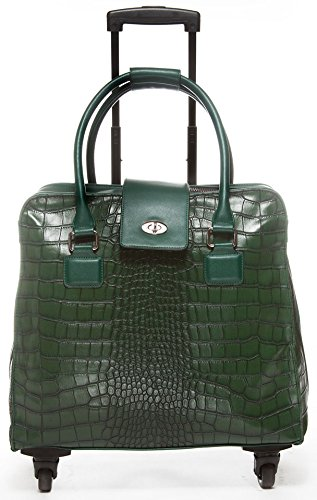 hang-accessories-crocodile-collection-trolley-bag-with-360-wheels-green