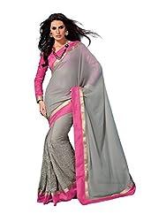 Subhash Sarees Daily Wear Grey Color Chiffon Saree Sari Sarees