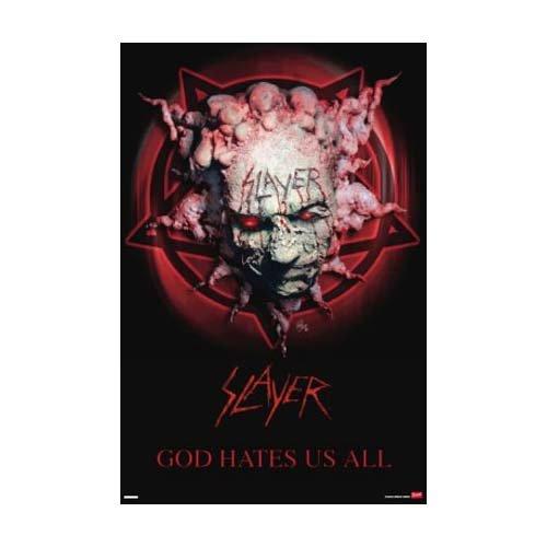 Slayer - Poster God hate us all