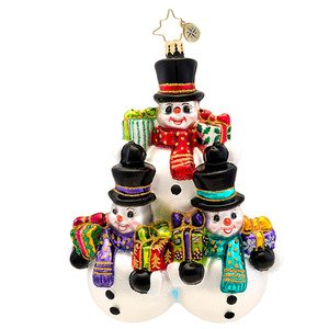 Christopher Radko Three's Company Glass Christmas Ornament 2014