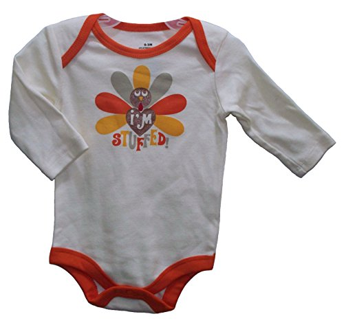 I'M Stuffed! Turkey Thanksgiving Baby Onesie Bodysuit Dress Up Outfit (3-6 Months) front-1016046