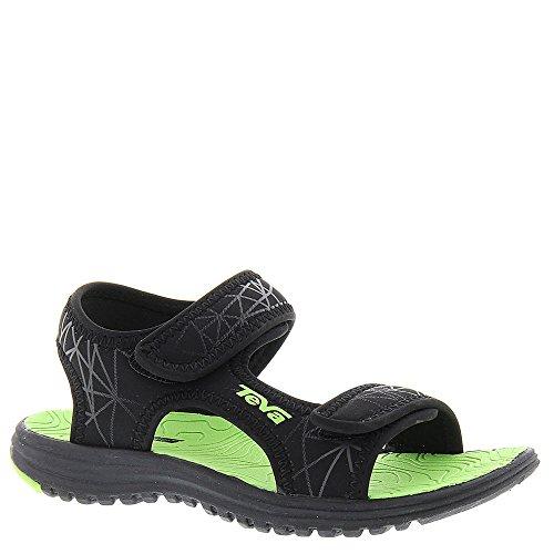 Teva Tidepool Sport Sandal (Toddler/Little Kid/Big Kid), Black/Lime-T, 8 M US Toddler