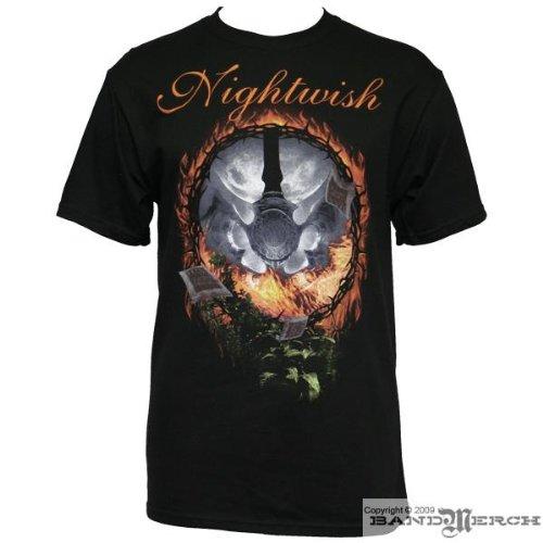 Night Wish - Fire Music Girls T-shirt in Black