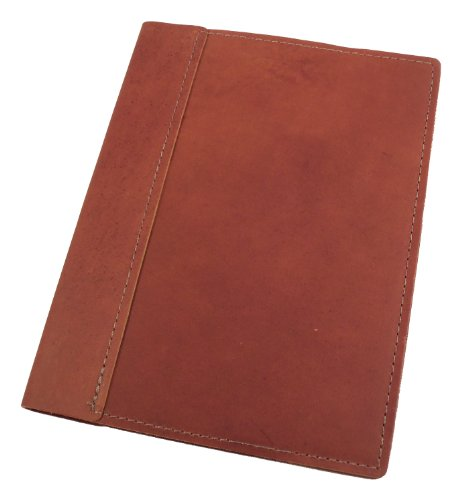 Scribe Refillable Genuine Leather Composition Notebook - Handmade in the USA - Saddle Brown
