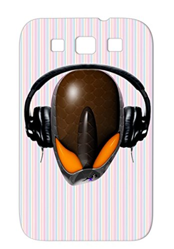 Et Funny Dj Cartoon Funny Wacky Music Face Pissed Off Alien Angry Cartoon Yellow For Sumsang Galaxy S3 Reptoid Alien Angry Dj In Headphones Cartoonish Protective Case