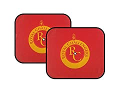 Raaisin IPL Car Sunshade(RCB Edition)(Set of 4)