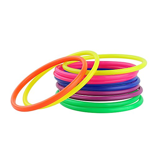 Crystallove 12pcs Plastic Multicolor Toss Rings for Carnival Garden Backyard Outdoor Games (Washers Game Rings compare prices)