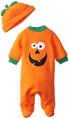 Gerber Unisex-Baby Newborn Neutral Character Sleep N Play And Cap, Pumpkin, 6-9 Months front-262928