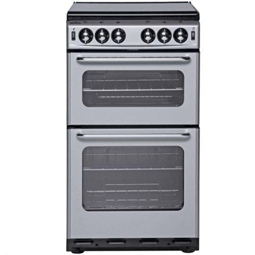 New World 500TSIDL Twin Cavity Gas Cooker, Silver