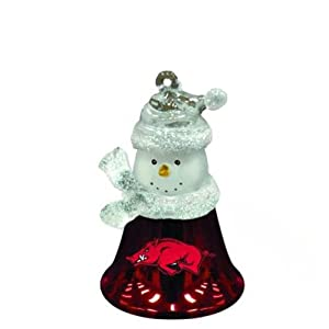 "Arkansas Razorbacks 2.5"" Snowman Bell Ornament"