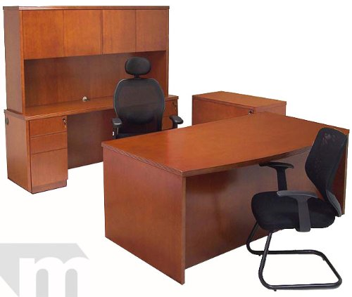 cherry veneer office furniture package great buy office desk