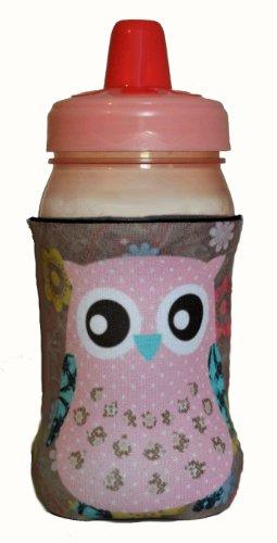Kidzies Huggerz, Child'S Drink Sippy Cup Bottle Insulator, Girl Owl Design front-948034