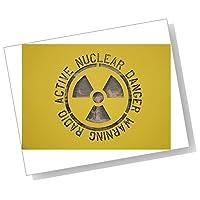 【紙製 ステンシル シート 大】 放射線 ハザードロゴ 原発