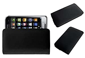 Acm Rich Leather Soft Case For Samsung Galaxy S I9000 Mobile Handpouch Cover Carry Black