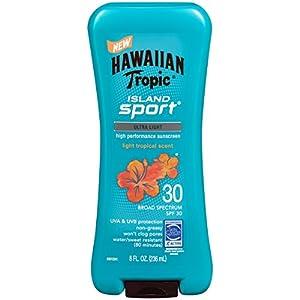 Hawaiian Tropic Sunscreen Island Sport Broad Spectrum Sun Care Sunscreen Lotion - SPF, 8 Ounce