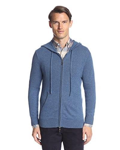 Thirty Five Kent Men's Cashmere Solid Full Zip Hoodie