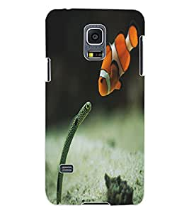 ColourCraft Snake and Fish Design Back Case Cover for SAMSUNG GALAXY S5 MINI